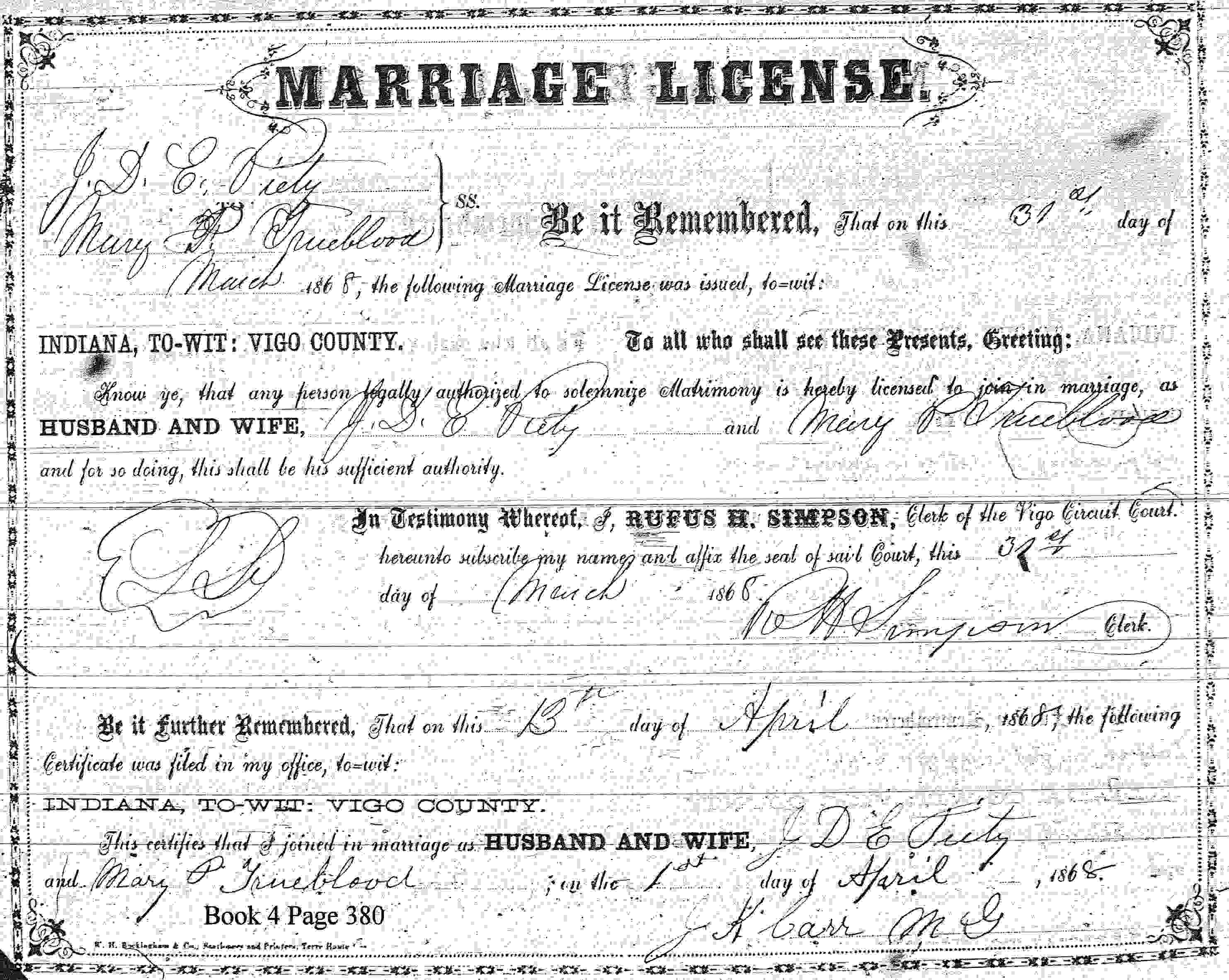 John duncan early piety and mary phedora trueblood johns parents were thomas piety and emily thomas john was baptized at the prairie creek church of christ 15 dec 1865 one day after his brother elijah t aiddatafo Gallery