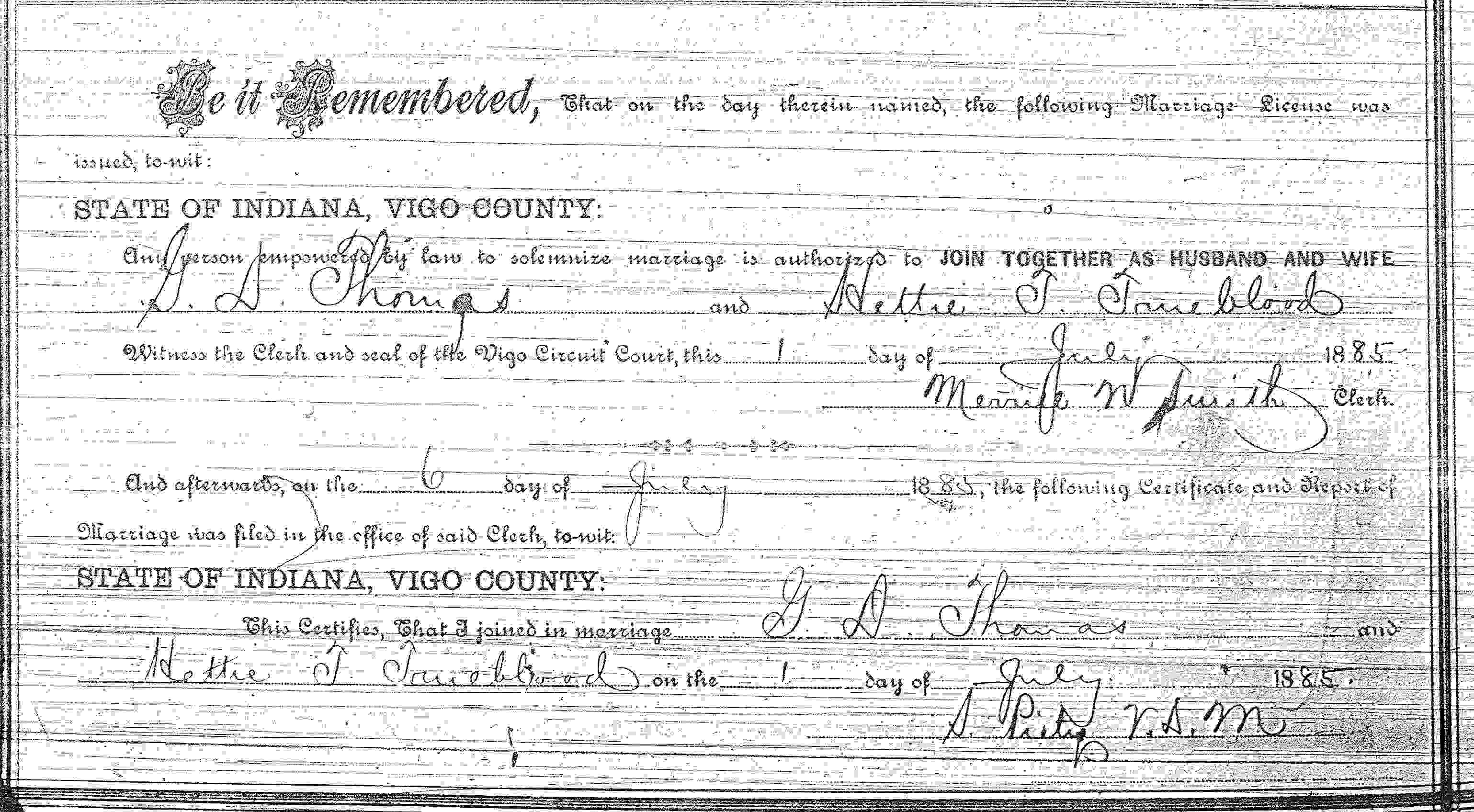 William trueblood and hetta taylor beauchamp gilford a texas resident was also a native of vigo county in born 06 may 1821 and was visiting relatives in vigo county in gilford was the brother of aiddatafo Gallery