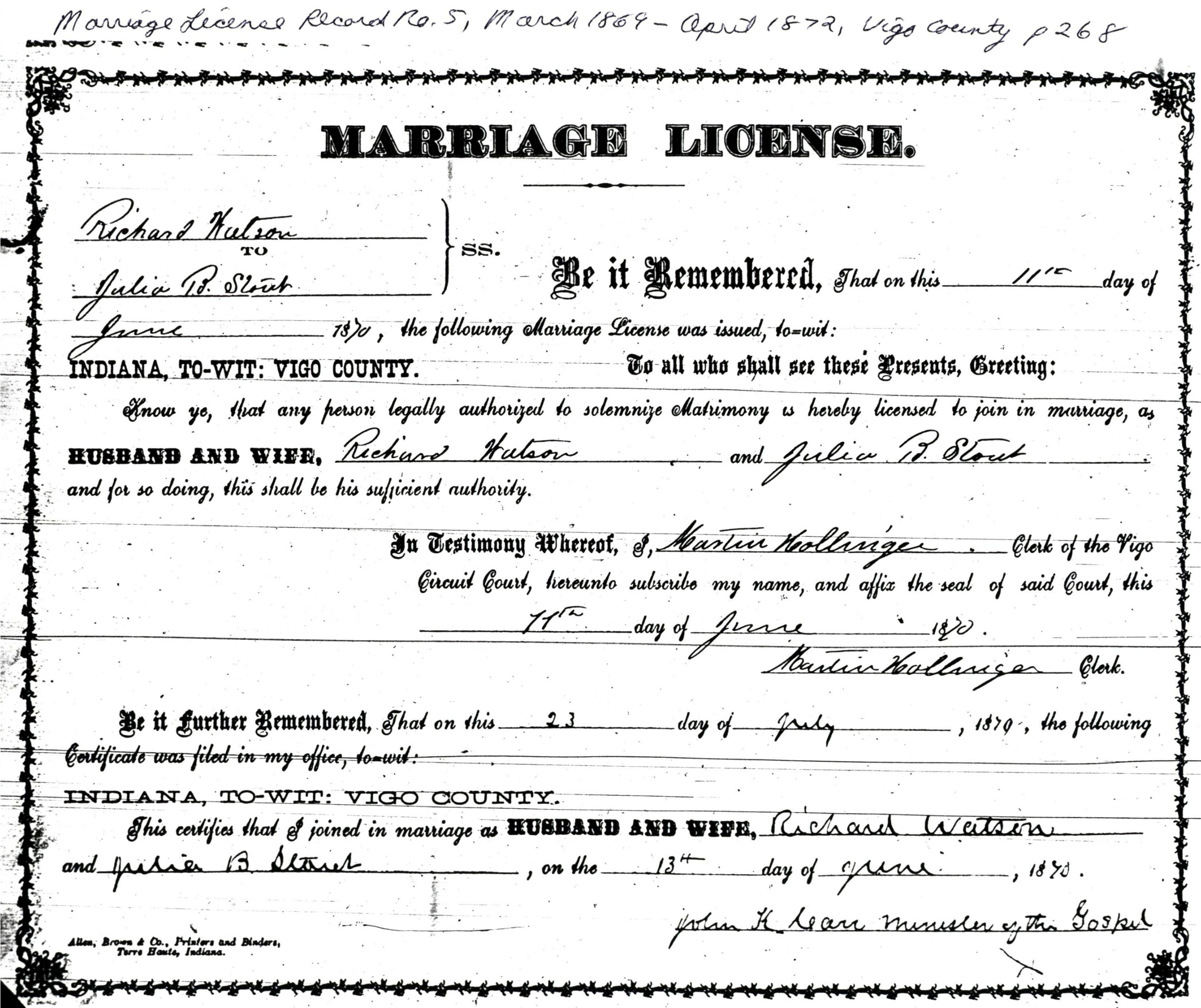 Richard c watson and amanda melvina paddock julia had been dismissed on 11 apr 1863 from the prairie creek church of christ after having been one of the charter members when the church organized in aiddatafo Gallery